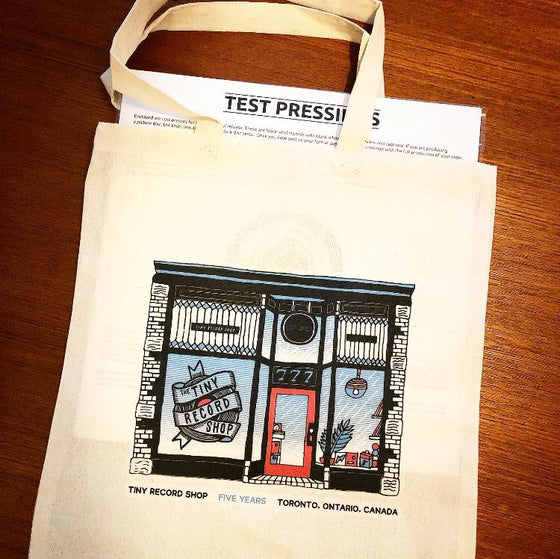 Tiny Record Shop 'Five Years' Tote Bag