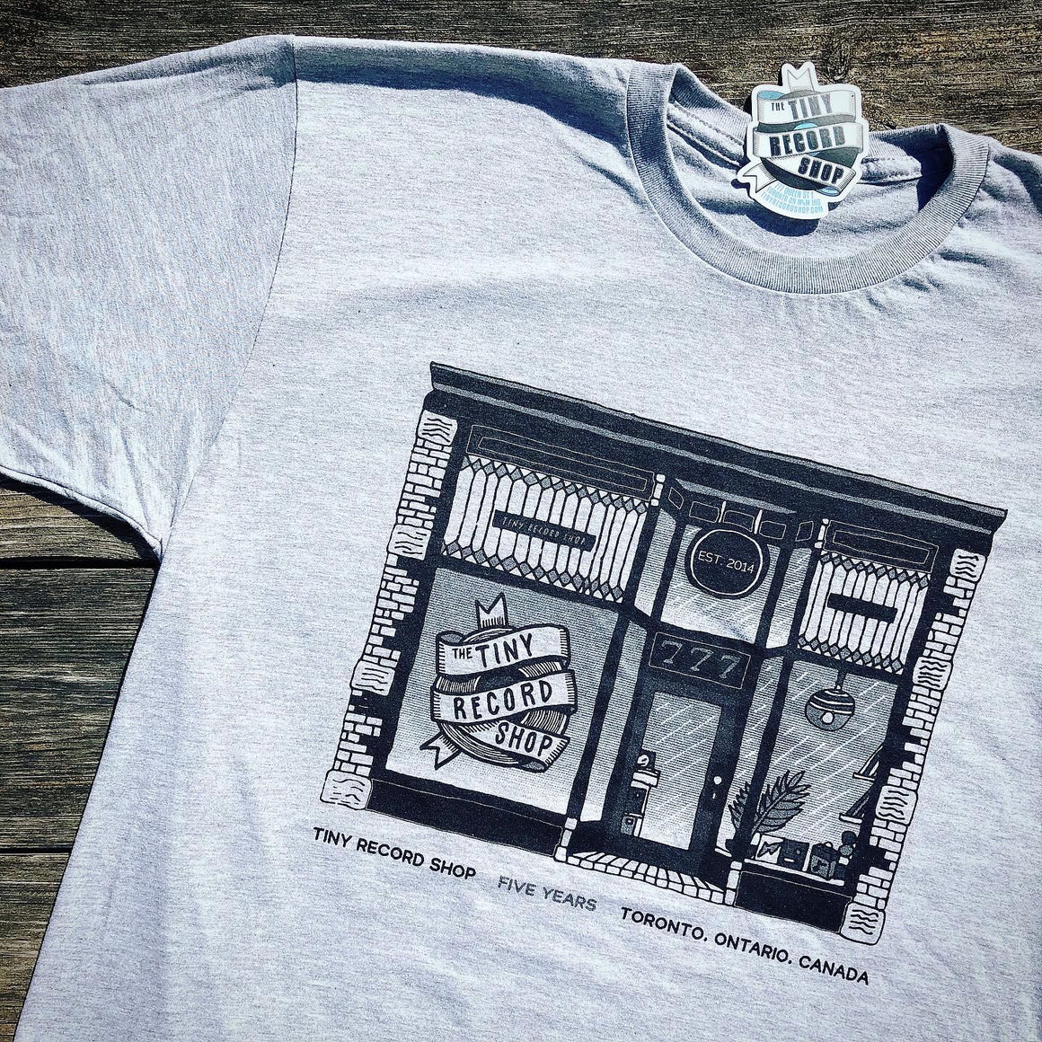 Tiny Record Shop 'Five Years' T-Shirt