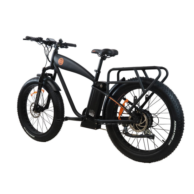 K6 1000 watt rear drive cruiser ebike electric bike product angle 2