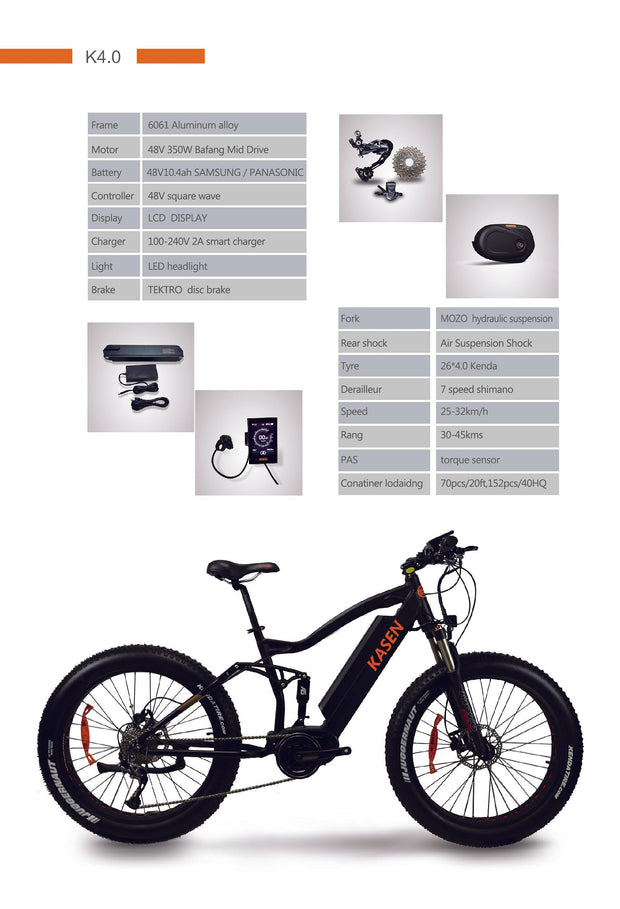 K-4.0 Fat Tire Electric Bike 26""