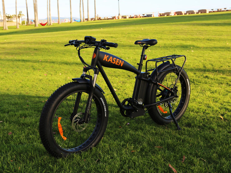 Kasen K6 1000 watt fat tire cruiser ebike electric bike electric bicycle with rack