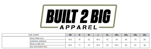 Khaki Built 2 Big Apparel T-Shirt