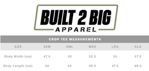 Built 2 Big Apparel Crop Tee