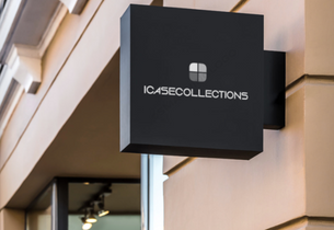 icasecollections store sign