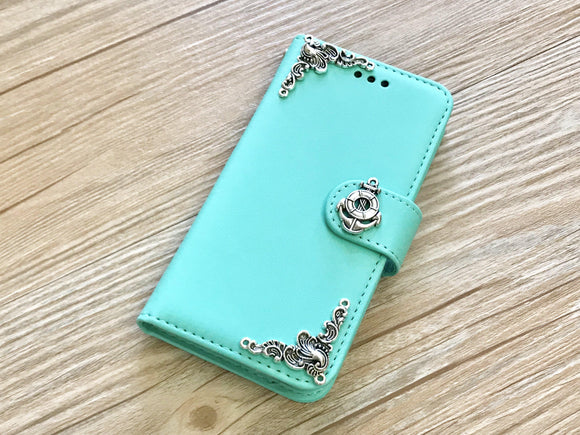 Anchor handmade removable phone wallet case for Apple / Samsung MN0219-icasecollections