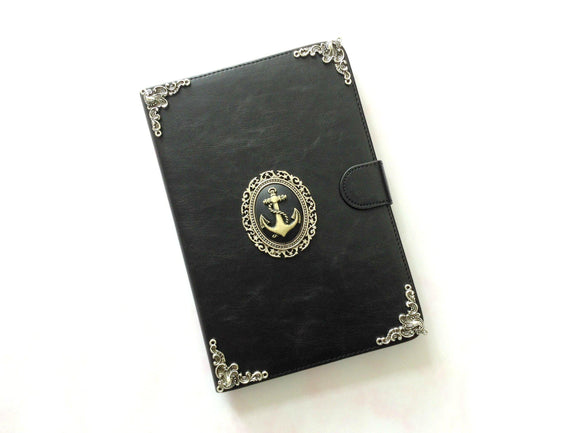 Anchor iPad handmade leather stand case for Apple MN0243-icasecollections