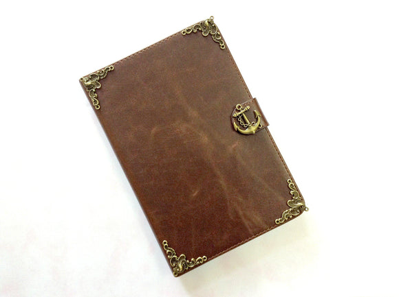 Anchor iPad handmade leather stand case for Apple MN0277-icasecollections
