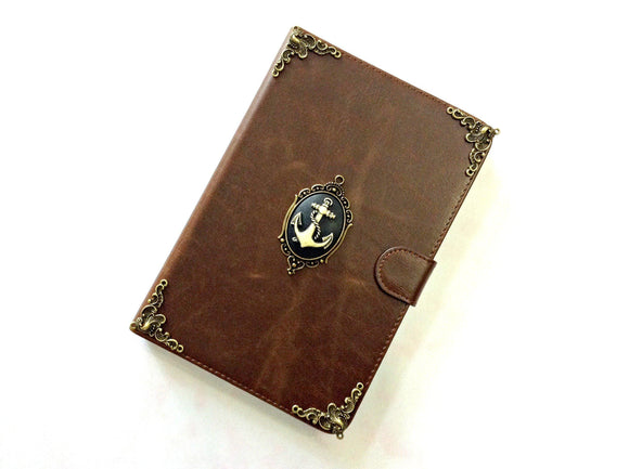 Anchor iPad handmade leather stand case for Apple MN0282-icasecollections