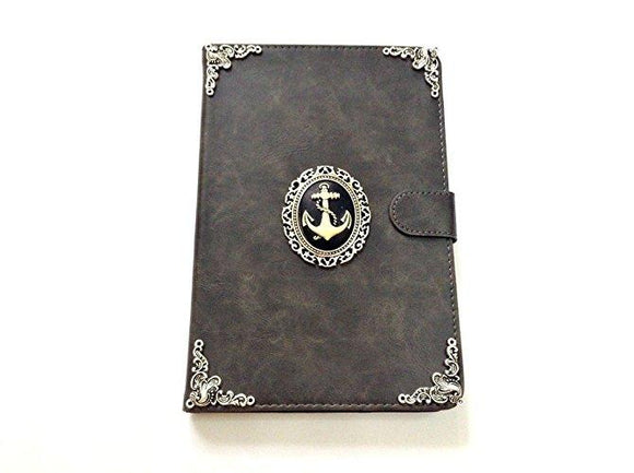 Anchor ipad leather case, handmade ipad cover for Apple MN0457-icasecollections