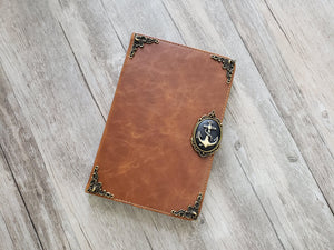 Anchor ipad leather case, handmade ipad cover for Apple MN1063-icasecollections