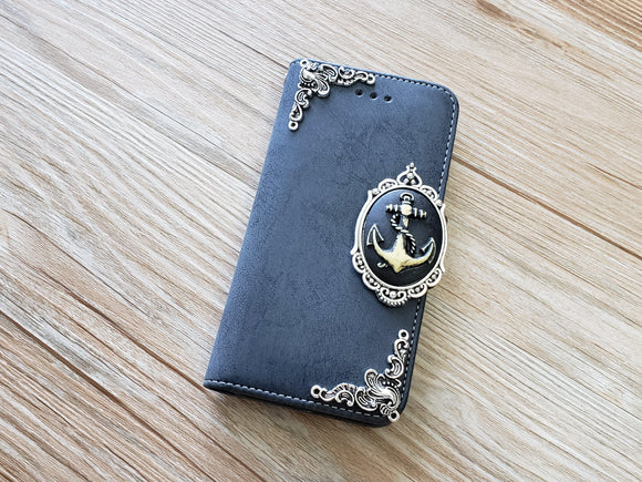 Anchor phone leather wallet removable case cover for Apple / Samsung MN0891-icasecollections