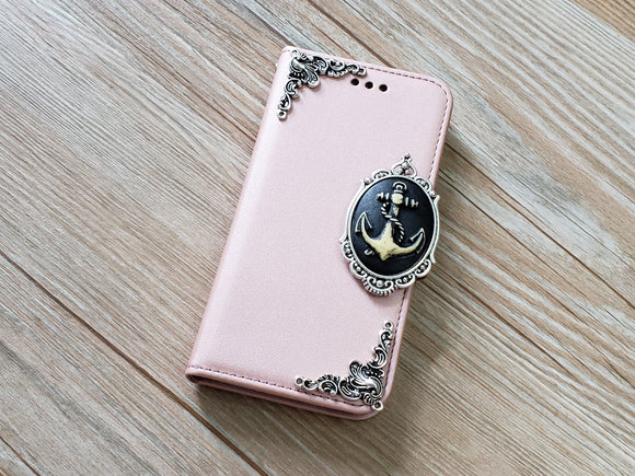 Anchor phone leather wallet removable case cover for Apple / Samsung MN0907-icasecollections