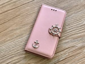 Anchor removable phone leather wallet case for Apple / Samsung MN0050-icasecollections