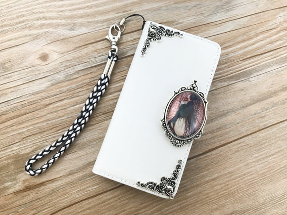 Art Deco Women leather wallet handmade phone case cover for Apple / Samsung DC041-icasecollections