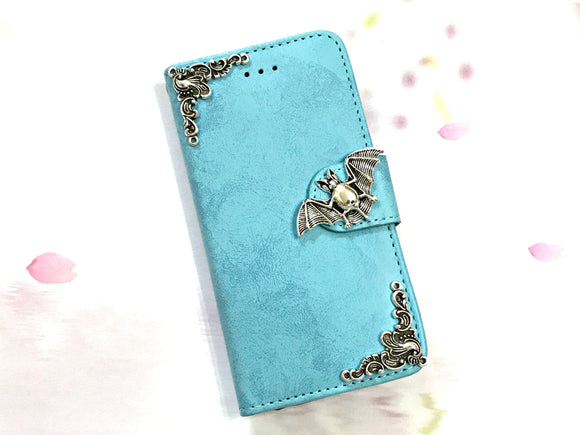 Bat phone leather wallet stand removable case cover for Apple / Samsung MN0629-icasecollections