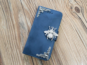 Bee phone leather wallet stand removable case cover for Apple / Samsung MN0771-icasecollections
