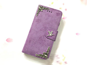 Bird phone leather wallet stand removable case cover for Apple / Samsung MN0614-icasecollections