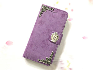 Buddha phone leather wallet stand removable case cover for Apple / Samsung MN0615-icasecollections