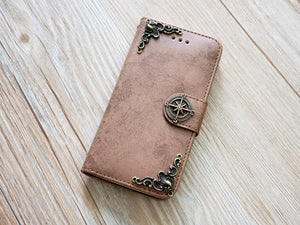 Compass phone leather wallet removable case cover for Apple / Samsung MN0832-icasecollections