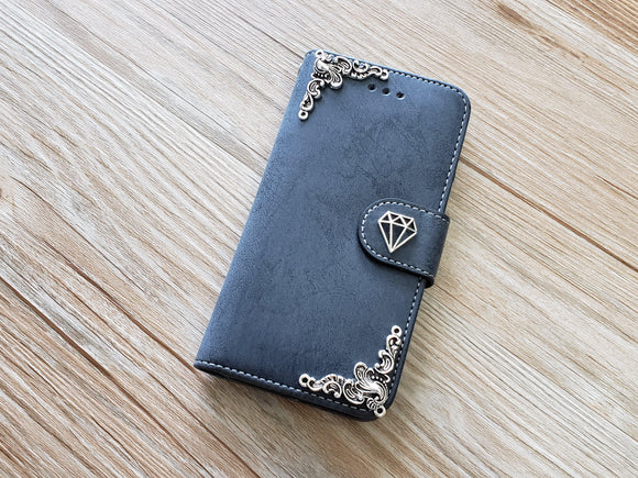 Diamond phone leather wallet removable case cover for Apple / Samsung MN0899-icasecollections