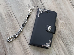 Dollar sign phone leather wallet removable case cover for Apple / Samsung MN1064-icasecollections