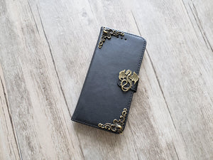 Dragon leather wallet handmade phone case cover for Apple / Samsung MN1156-icasecollections