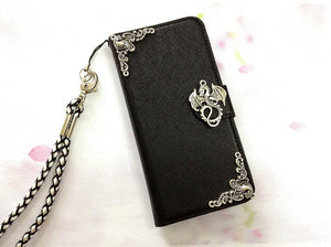 Dragon phone leather wallet removable case cover for Apple / Samsung MN0471-icasecollections
