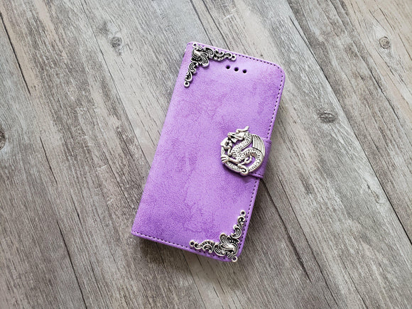 Dragon phone leather wallet stand removable case cover for Apple / Samsung MN1009-icasecollections
