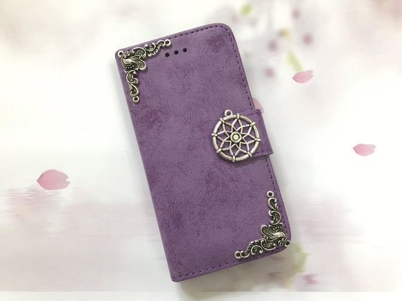 Dreamcatcher phone leather wallet stand removable case cover for Apple / Samsung MN0623-icasecollections