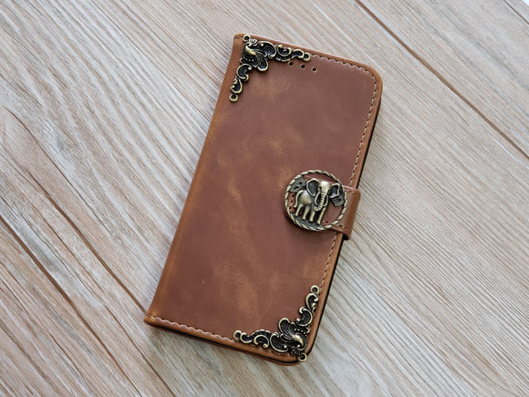 Elephant leather wallet handmade phone case for Apple / Samsung MN0782-icasecollections