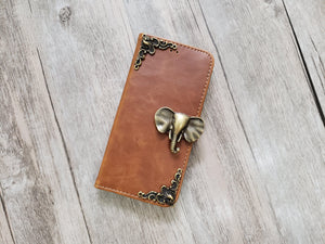 Elephant leather wallet handmade phone case for Apple / Samsung MN1083-icasecollections
