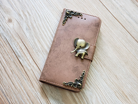 Elephant phone leather wallet removable case cover for Apple / Samsung MN0827-icasecollections