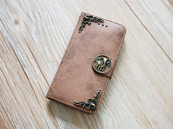 Elephant phone leather wallet removable case cover for Apple / Samsung MN0830-icasecollections