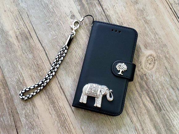 Elephant phone leather wallet removable case cover for Apple / Samsung MN1070-icasecollections