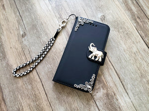Elephant phone leather wallet removable case cover for Apple / Samsung MN1196-icasecollections