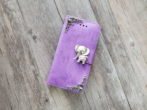 Elephant phone leather wallet stand removable case cover for Apple / Samsung MN1018-icasecollections