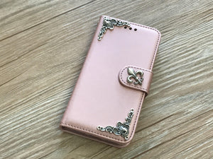 Fleur de lis removable phone wallet case for Apple / Samsung MN0049-icasecollections