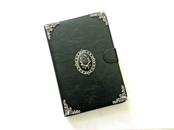 Flower iPad handmade leather stand case for Apple MN0248-icasecollections