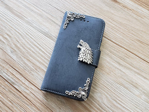 Game of Thrones House Stark phone leather wallet removable case cover for Apple / Samsung MN0904-icasecollections