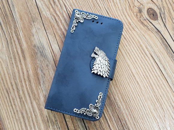 Game of Thrones House Stark phone leather wallet stand removable case cover for Apple / Samsung MN0770-icasecollections