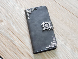 Game of Thrones Song Of Ice Fire Compass leather wallet handmade phone case for Apple / Samsung MN0765-icasecollections