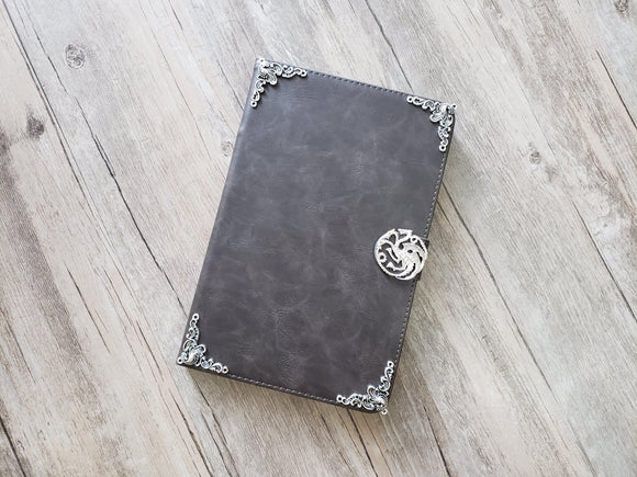 Game of Thrones Targaryen Dragon ipad leather case, handmade ipad cover for Apple MN1077-icasecollections