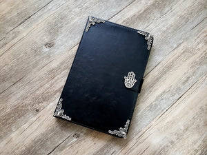 Hamsa ipad leather case, handmade ipad cover for Apple MN0970-icasecollections