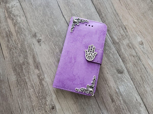 Hamsa phone leather wallet stand removable case cover for Apple / Samsung MN1011-icasecollections