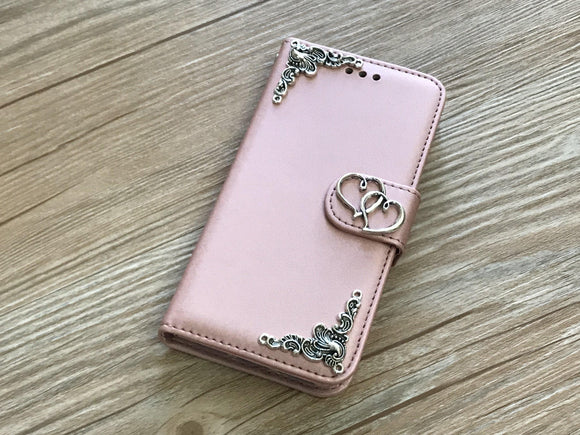 Heart removable phone leather wallet case for Apple / Samsung MN0047-icasecollections