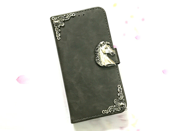 Horse leather wallet handmade phone case cover for Apple / Samsung MN0603-icasecollections