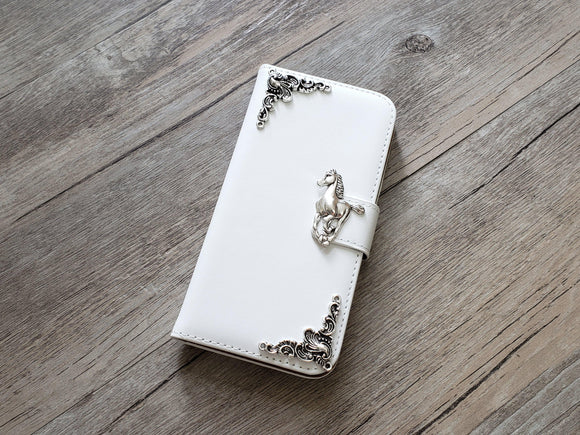 Horse leather wallet handmade phone case cover for Apple / Samsung MN0932-icasecollections