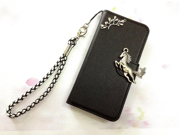 Horse phone leather wallet removable case cover for Apple / Samsung MN0469-icasecollections