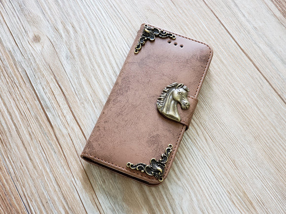Horse phone leather wallet removable case cover for Apple / Samsung MN0835-icasecollections