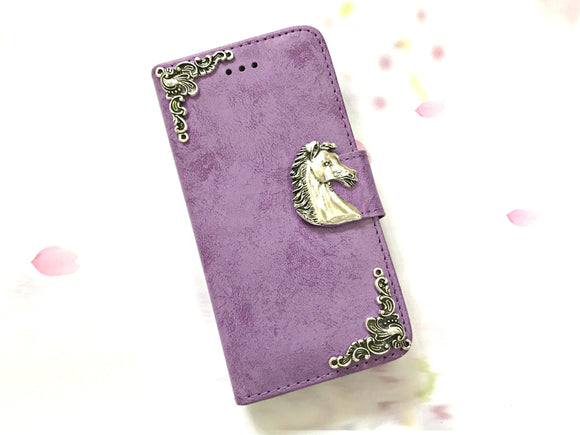 Horse phone leather wallet stand removable case cover for Apple / Samsung MN0616-icasecollections